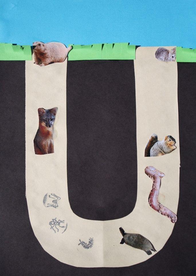 Underground Animal Activities --- love the idea of making U an animal home themed week