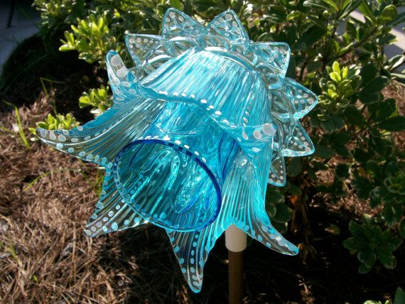 Glass Garden Flower Hand Painted Upcycled Suncatcher