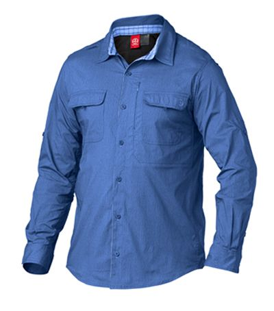 Vigilante - Dilkon Long Sleeve Shirt -  Loaded with ventilation and patch pockets for storage, this traditional hiking shirt has an added twist with an invisible zipper pocket and a unique contrast inner collar stand.  http://www.vigilante.com.au/product-details.php?product_id=254&q=dilk&by=product