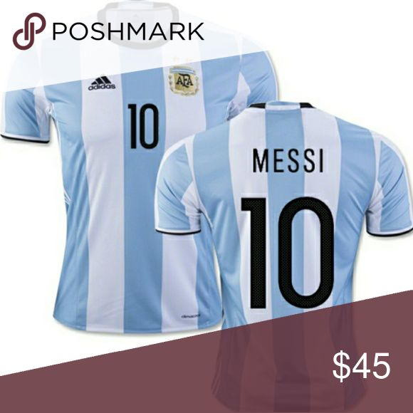 MESSI #10 ARGENTINA TEAM JERSEY This a brand new messi #10 argentina team  jersey adidas Shirts Tees - Short Sleeve