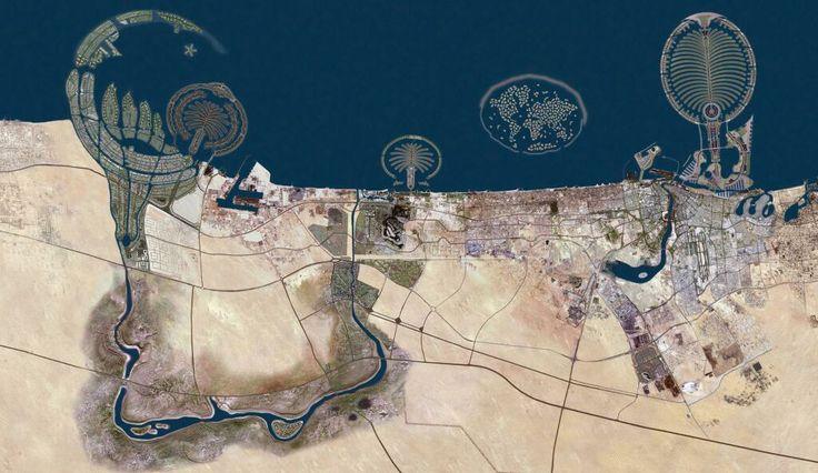 Dubai desde el aire ¡Impresiona! (desde twitter)