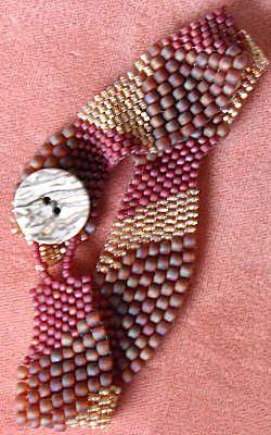 freeform peyote bracelet