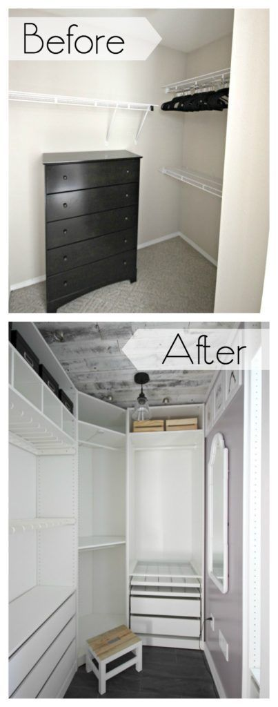 1000 ideas about small closet makeovers on pinterest maximize small space small closets and - Walkin closets for small spaces set ...