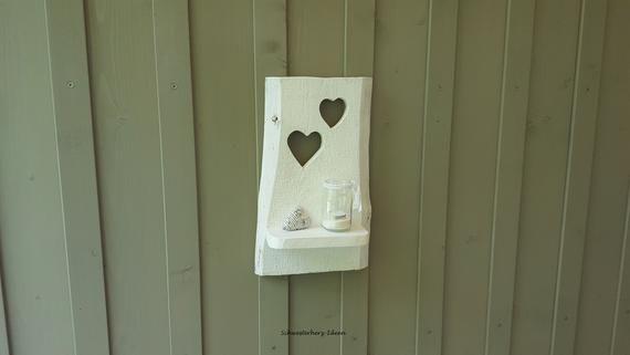 Regal Valentine Im Landhausstil Wandregal Handgemacht Weiss Mit