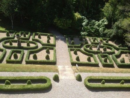 Gardens at Marlfield House Hotel in Wexford
