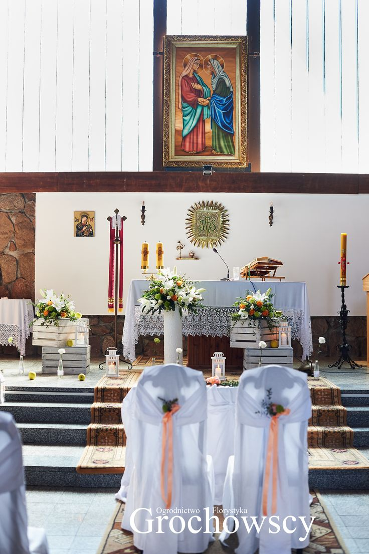 dekoracja kościoła Człuchów  - Chrząstowo dekoracje ślubne Człuchów