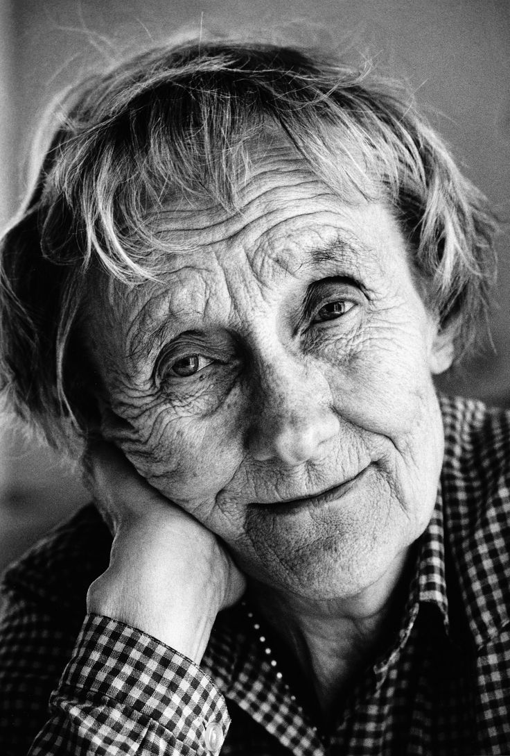 Astrid Lindgren (the mother of Pippi Longstocking and other famous children's books)  I loved watching interviews with her (n Swedish) -- she had a lovely turn of phrase, a down to earth, unsentimental but very loving approach to life  and a delicious sense of humor.