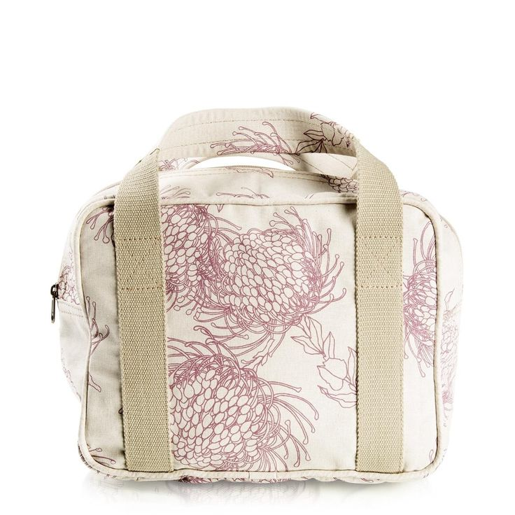 Peppertree Floral Bag. My moms favorite flower, protea.. now she can carry it with her every where.