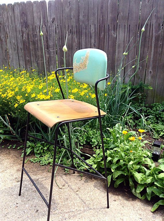 MCM Refurbished Reappointed Map Theme Bentwood Seat by HUEisit
