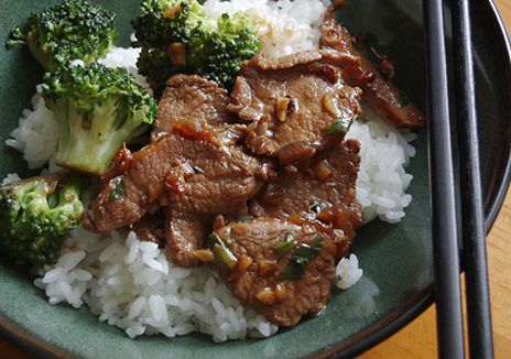 Garlic Lamb Stir-fry with Broccoli - the locals will love it when I learn to make this