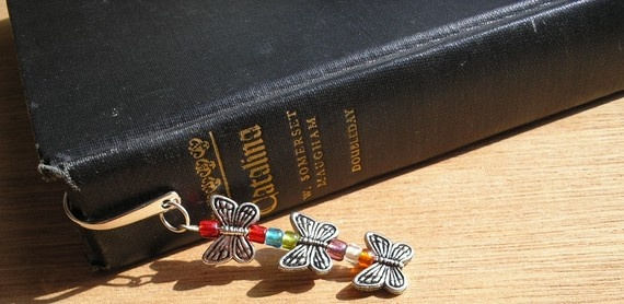 Bookmark  small butterflies by amystreasures on Etsy, $10.00