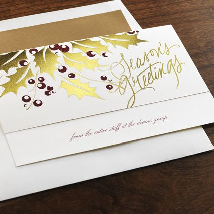 Holly Shine eInvite Business Holiday Cards