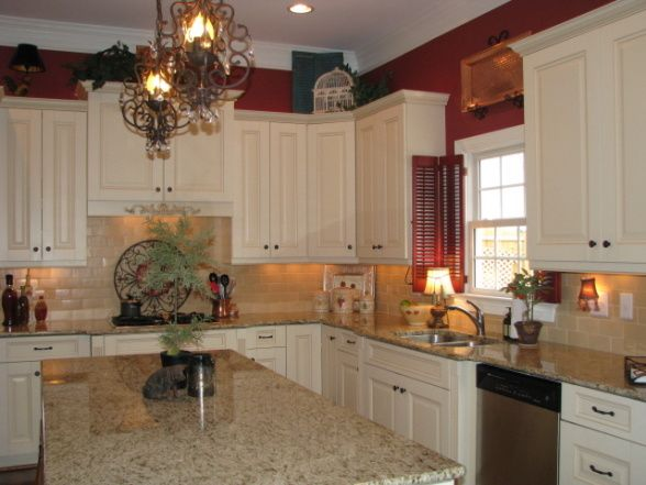 Kitchen Nook Opens To Living Room When We Bought It The Walls Were Same Color As Cabinetry So Revved Up Wi