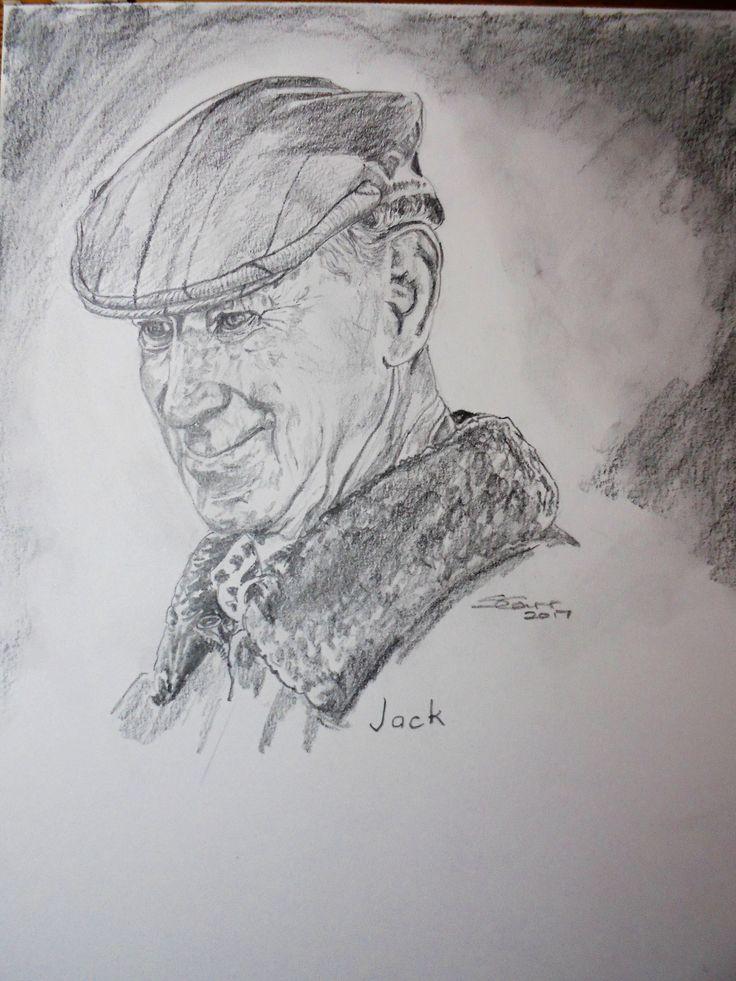Ashington legend, Jack Charlton.