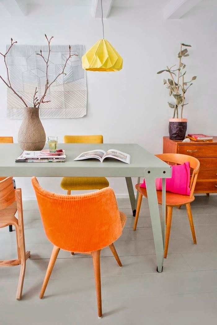 Best  Orange Interior Ideas Only On Pinterest Blue Orange - Orange dining room chairs