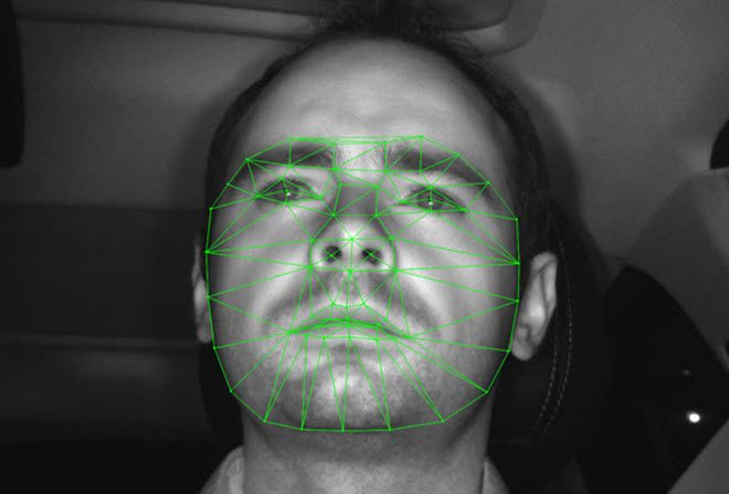 EPFL Facial Recognition Software - cars reading your face.. I am going to pass on the ethnic driver jokes..