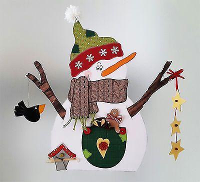Fensterbild - Schneemann mit gestricktem Schal - Winter - Dekoration - Tonkarton