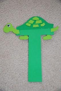 Letter T for Turtle. Preschool alphabet craft.