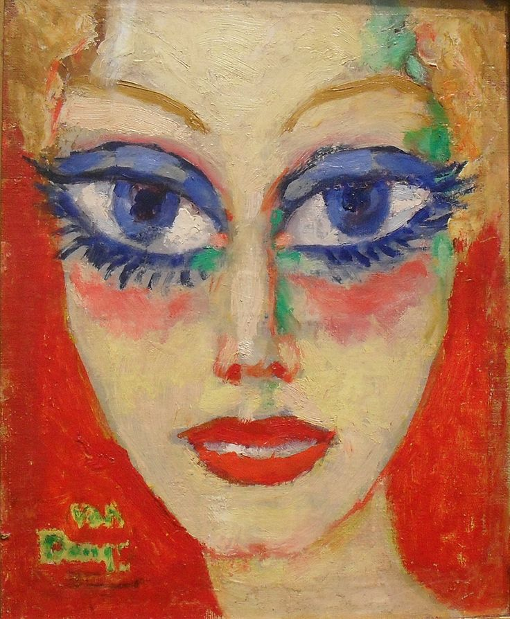 Kees van Dongen | Dutch Fauve painter, Woman with Blue Eyes, 1908