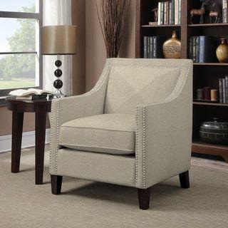 Handy Living Rome Barley Tan Linen Arm Chair