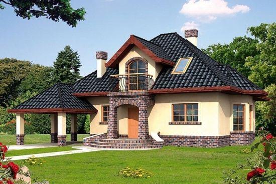 Proiect de casa cu mansarda sub 150 de metri patrati