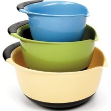 Oxo Mixing bowls. Ordered these off amazon.  Love oxo products and really appreciate their focus on design!