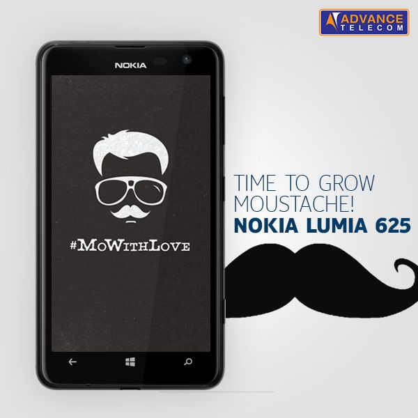 It's Stache Time with the super big Nokia Lumia 625!