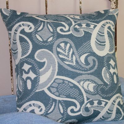 Transitional Textiles Paisley Cotton Throw Pillow Color: