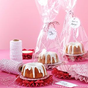 Decorating A Bunt Cake With Ribbon Candy