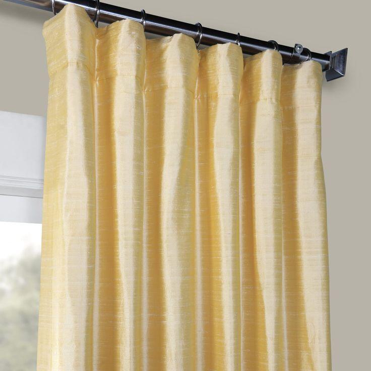 Honey Gold Textured Dupioni Silk Curtain