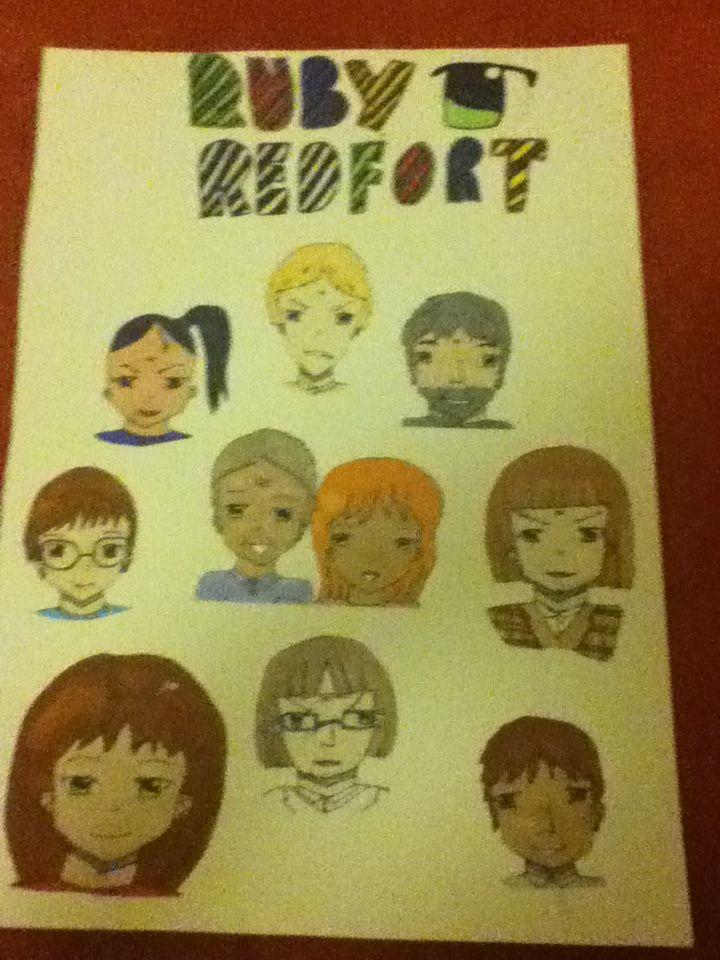 My ruby Redfort poster Art
