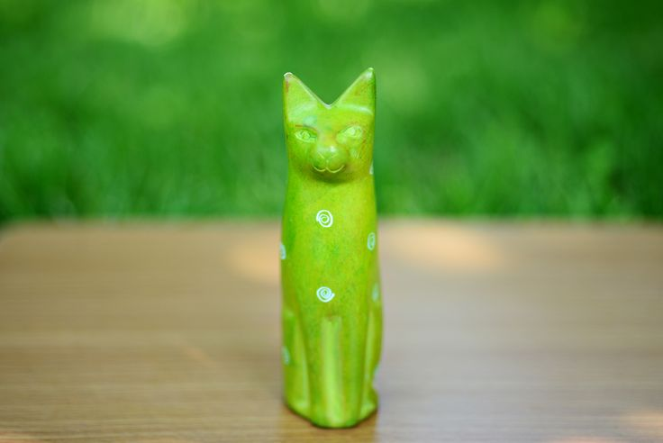 soapstone carvings of a cat.one of a  kind from Africa