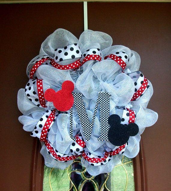 Mickey Mouse Deco Mesh Wreath Door Decoration Mesh