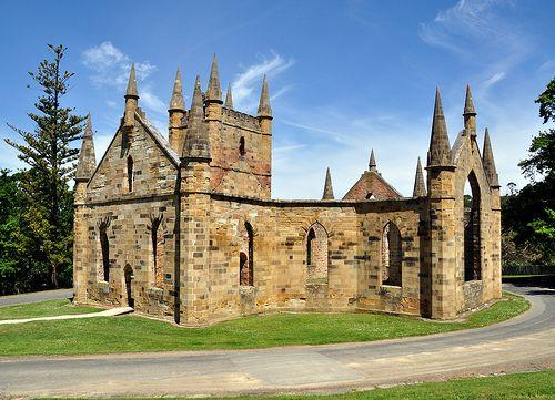 Convict-built church at Port Arthur, Tasmania, Australia by _Zinni_, via Flickr.