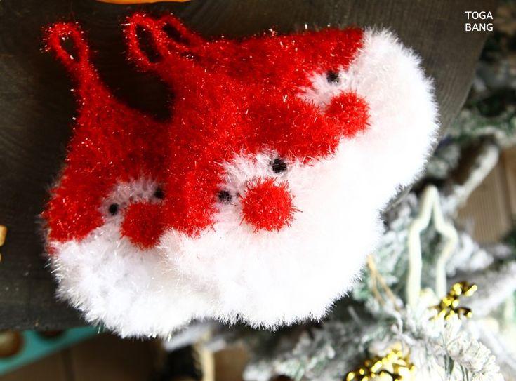 산타클로스 수세미뜨기 코바늘뜨기 크리스마스에 뭐하고 계신가요? 오늘밤엔 다들 외식도 하고 가족과 함께...
