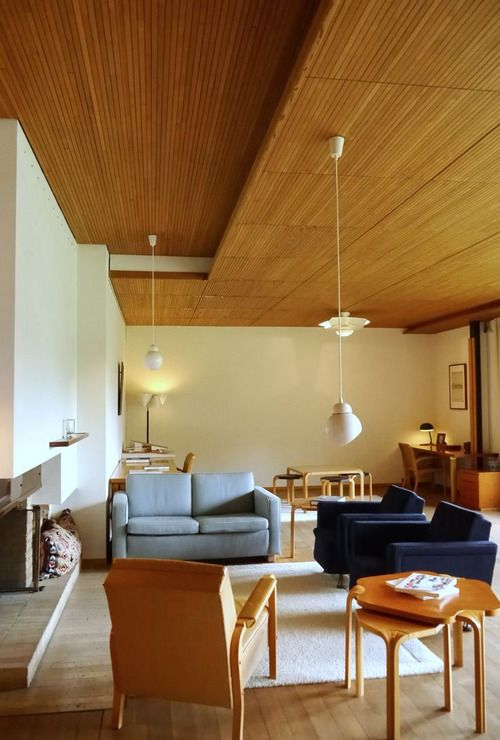 ALVAR AALTO, an interior from the Maison Louis Carré,...