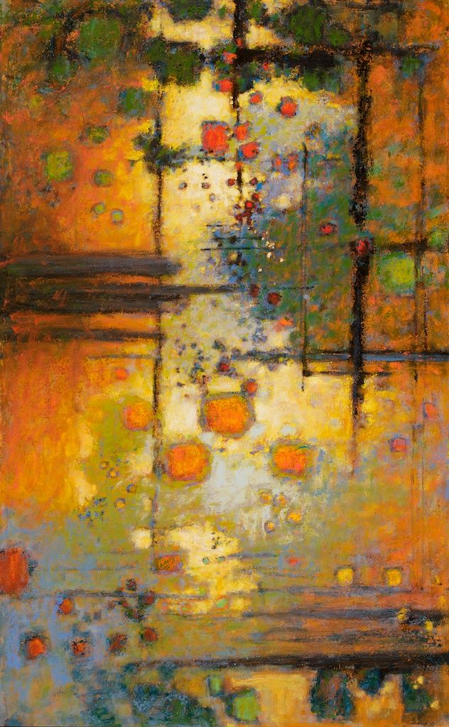 complexities released ~ oil on canvas ~ c.2010 ~ by rick stevens ~ commission for the world trade center in china