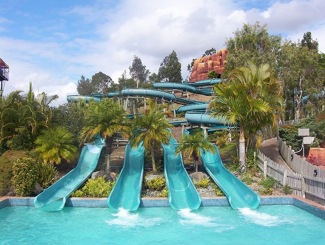 Wet n Wild Waterslides on the Gold Coast, Australia.