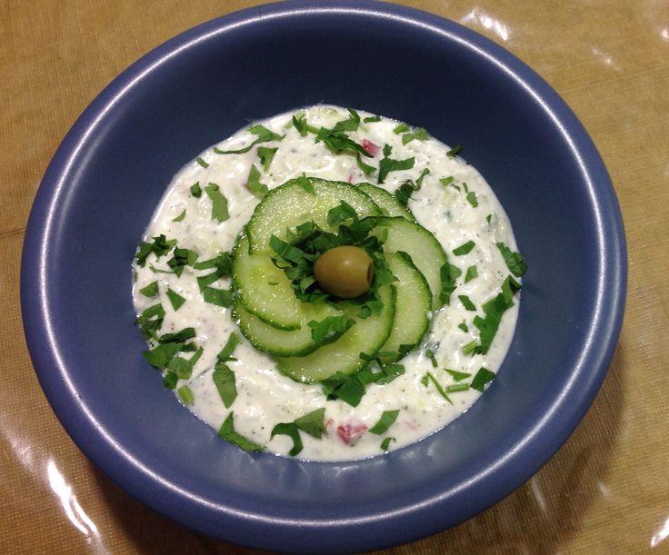 طريقة عمل سلطة الزبادى Yogurt And Cucumber Dip