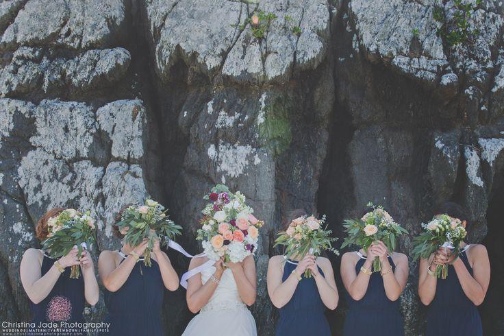 Bridal Party, Beach Wedding
