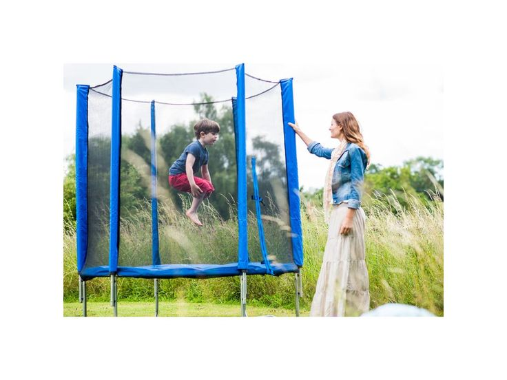 Plum 6ft Trampoline and Enclosure in Blue