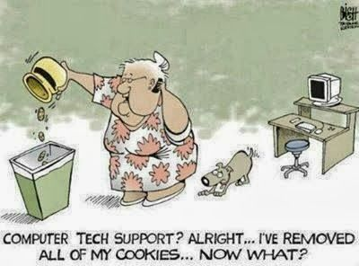 Tech Support Humor | #cookies | From Funny Technology - Community - Google+ via Matt Clark