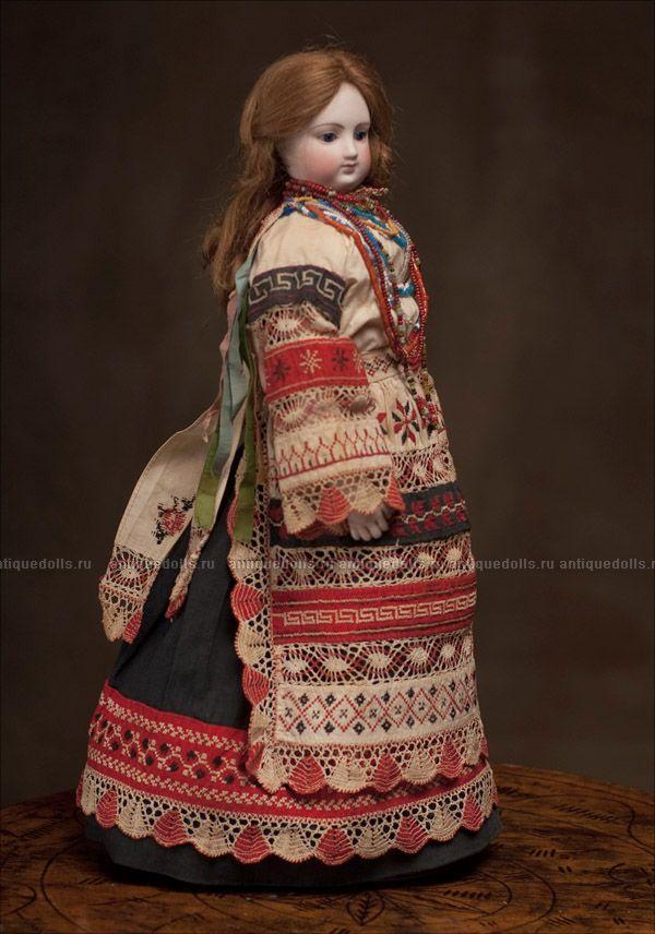 """Редкая """"модная"""" кукла Gaultier В ОРИГИНАЛЬНОМ РУССКОМ КОСТЮМЕ! - на сайте антикварных кукол."""