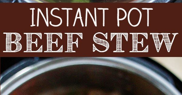 Liked on Pinterest: Beef Stew is the ultimate cold weather comfort food and the Instant Pot lets you have a delicious homemade beef stew in less than an hour. This Instant Pot Beef Stew recipe is sure to become a family favorite. With just a few simple ingredients you have a delicious Beef Stew packed with tender veggies and a flavorful broth.