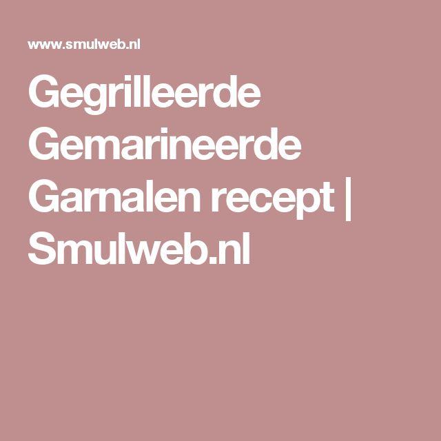 Gegrilleerde Gemarineerde Garnalen recept | Smulweb.nl