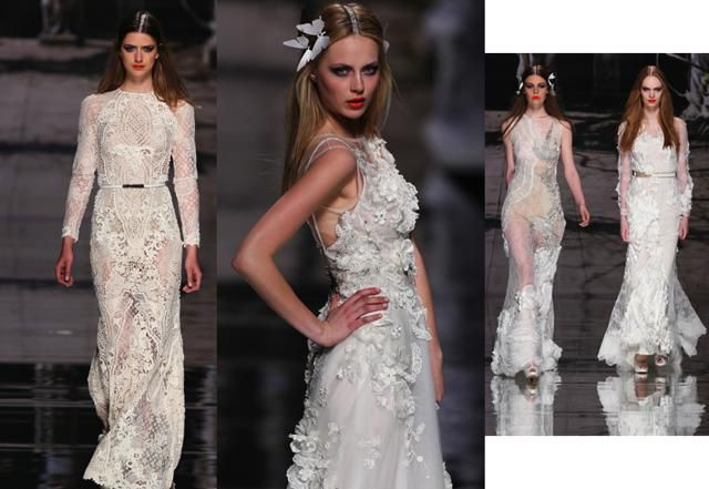 Yolan Cris: la collezione sposa 2015 dal mood gipsy con richiami hippy.Tuniche iper ricamate e dress tutù. / Yolan Cris: the bridal collection 2015 from gipsy mood with references hippy.Tuniche hyper embroidered dress and tutù.