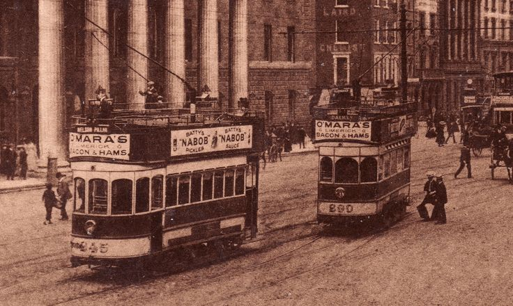 Trams in O'Connell Street