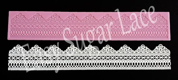 Silicone  ROCHELLE CAKE LACE Mat / Mold for by EasySugarLace