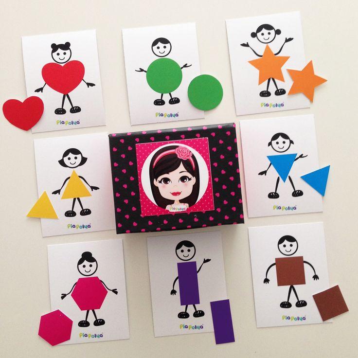 """""""Pia Polya Şekilleri Eşleştirme Oyunu""""   Oyun, Pia Polya'nın tüm çocuklara hediyesi olup, fikir mülkiyeti Hotalı Ambalaj Tasarımına aittir."""