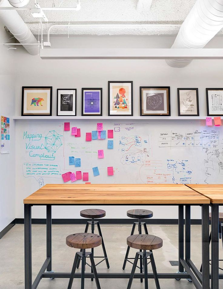 white boards foster creativity in the office